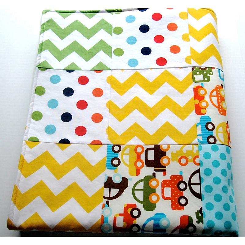 Одеяло для новорожденных в кроватку Пэчворк Авто