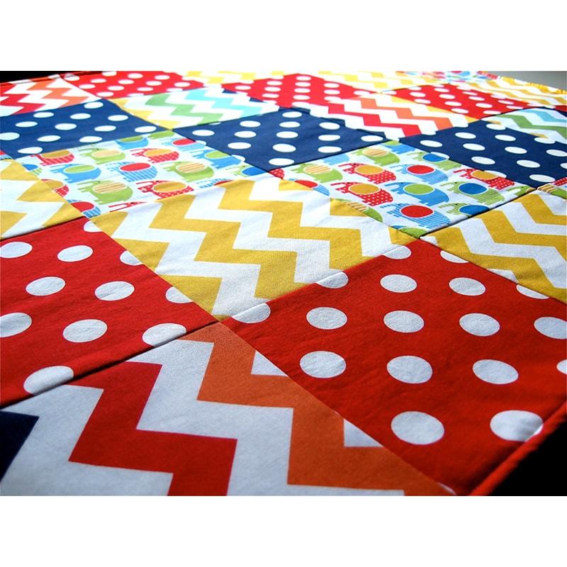 Одеяло для новорожденных в кроватку Пэчворк Элефант