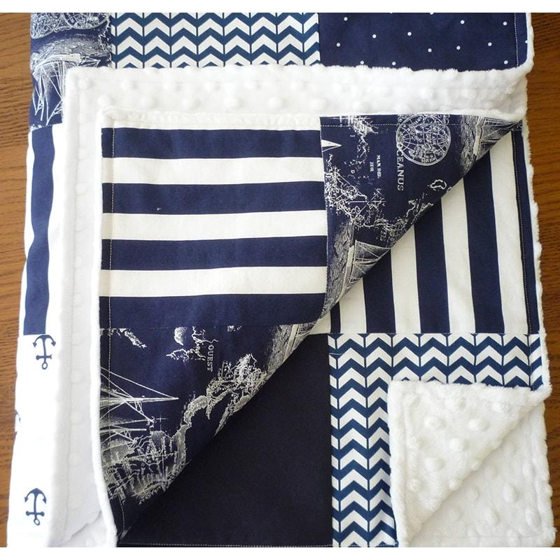 Одеяло для новорожденных в кроватку Пэчворк Экспедиция