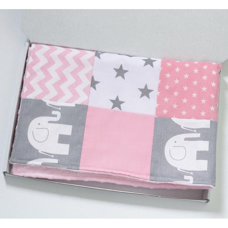 Одеяло для новорожденной девочки Розовый Слоник