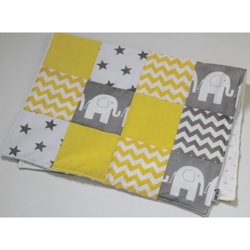 Одеяло для новорожденных Пэчворк Желтый Слоник