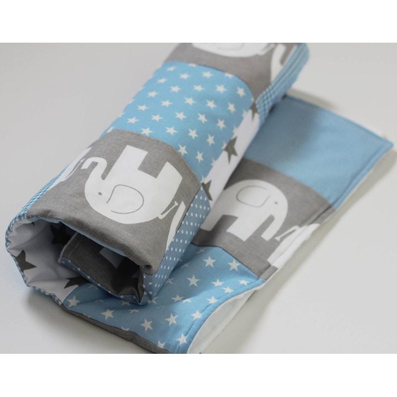 Ковдра для новонароджених Печворк Блакитний Слоник