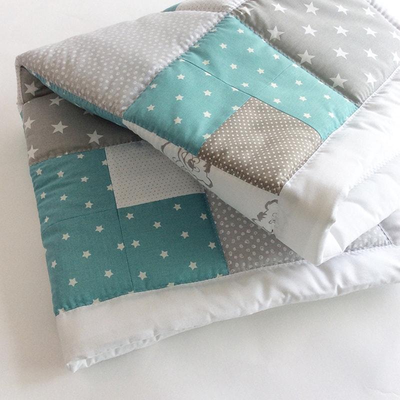 Одеяло для новорожденных Пэчворк Мишутка