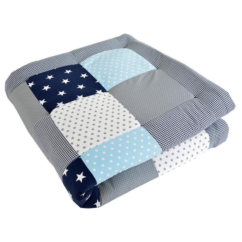 Одеяло для новорожденного мальчика Пэчворк Жемчужная Звездочка