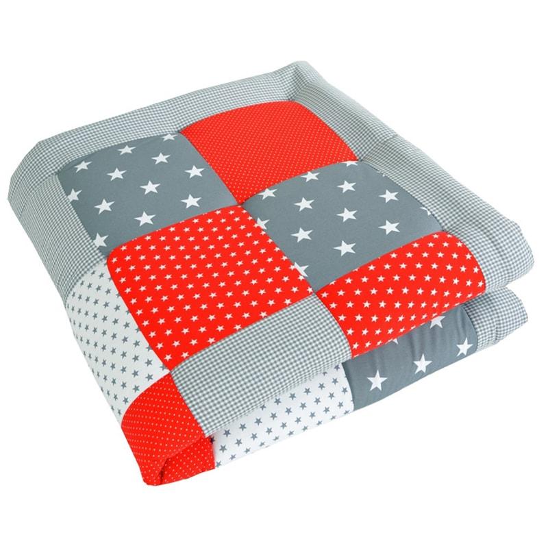 Одеяло для новорожденных Пэчворк Алая Звездочка