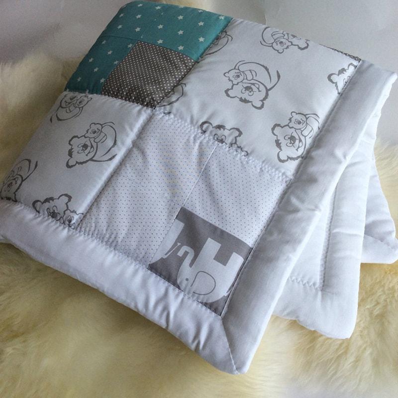 Ковдра для новонароджених Печворк Мишко