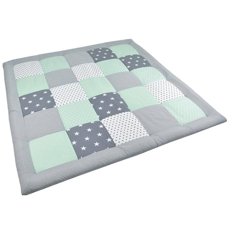 Одеяло для новорожденных Пэчворк Мятная Звездочка