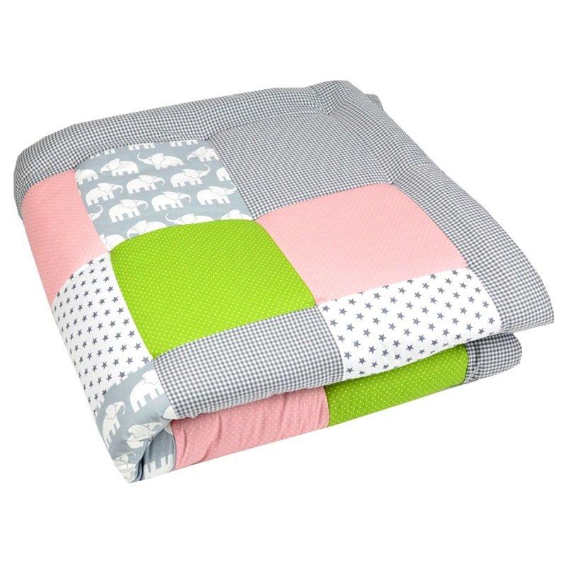 Одеяло ручной работы в кроватку новорожденным Керри