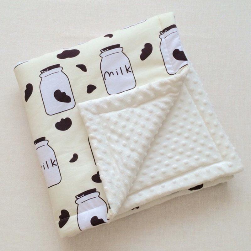 Плед для новорожденного на выписку Milk