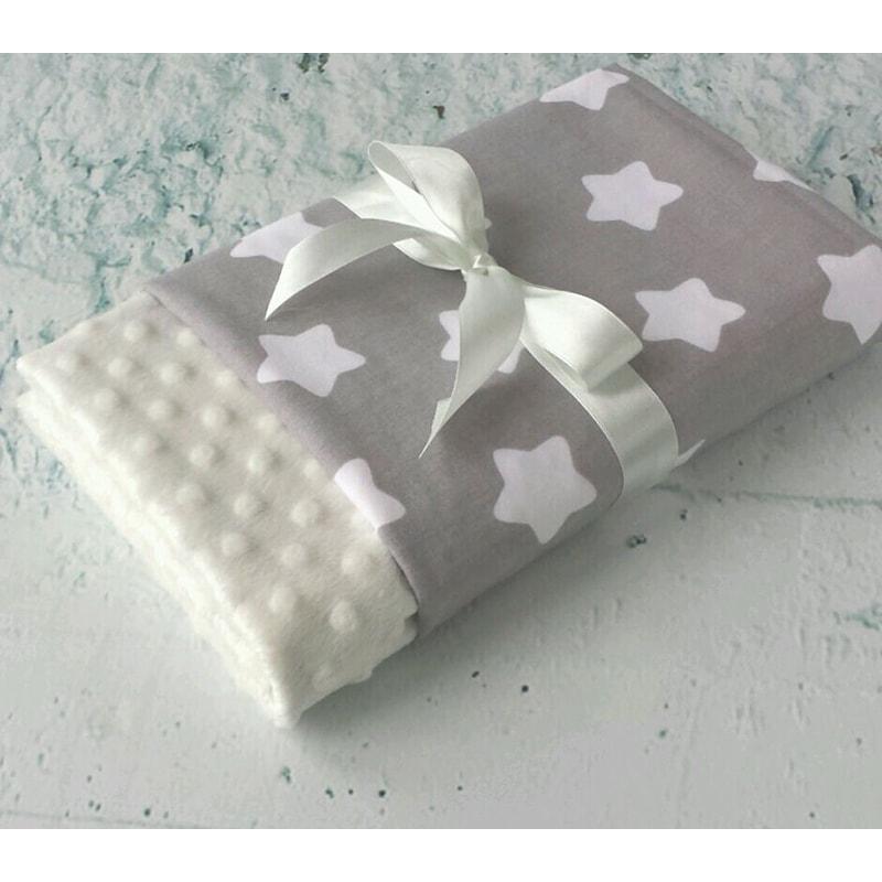 Плед для новорожденного Серая Звездочка