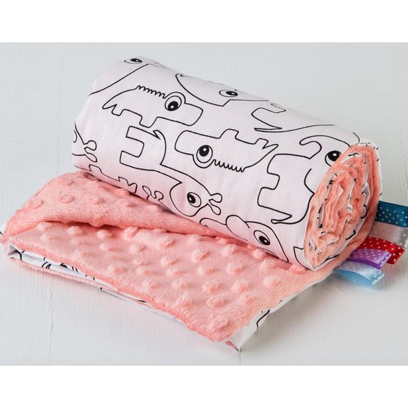 Плед в кроватку новорожденной девочке Веселый Зоопарк