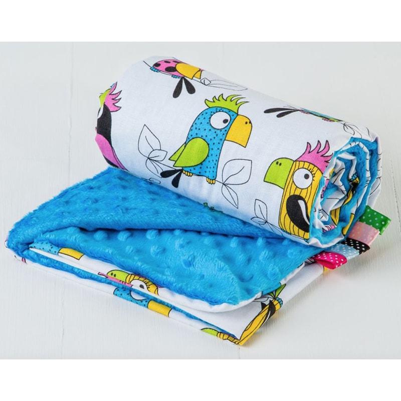 Покривало для новонародженого коляску Синій Папужка