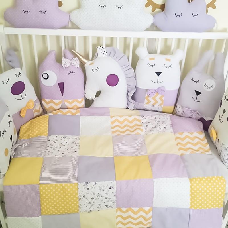 Одеяло-плед в кроватку новорожденным Суррей
