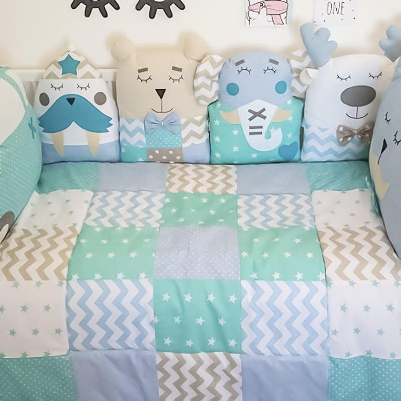 Ковдра в ліжечко новонародженому хлопчикові Оксфорд