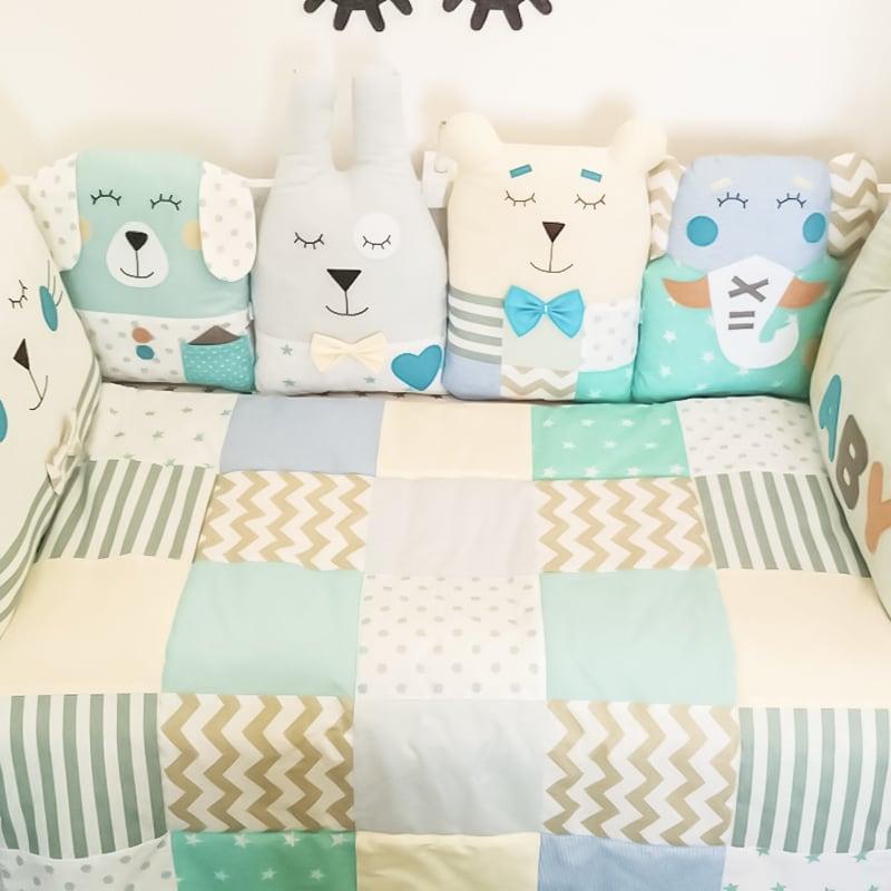 Одеяло пэчворк для новорожденного Дорсет