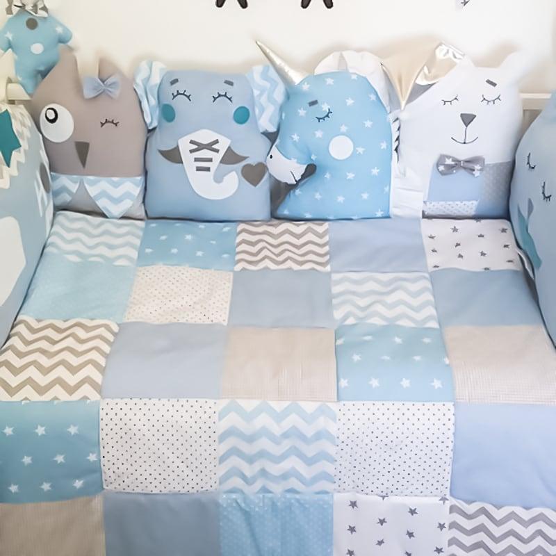 Одеяло лоскутное для новорожденного мальчика Кент