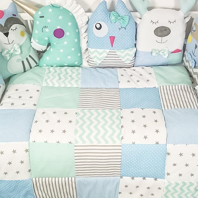 Одеяло-плед пэчворк для новорожденного Сомерсет