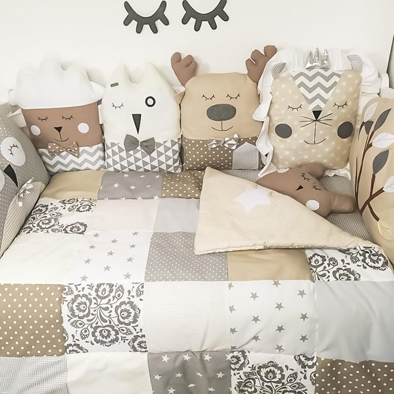 Дизайнерська ковдра-плед в ліжечко Норфолк
