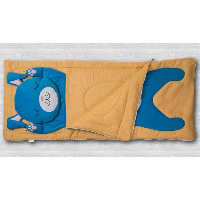 Детский спальный мешок для мальчика Зайчишка