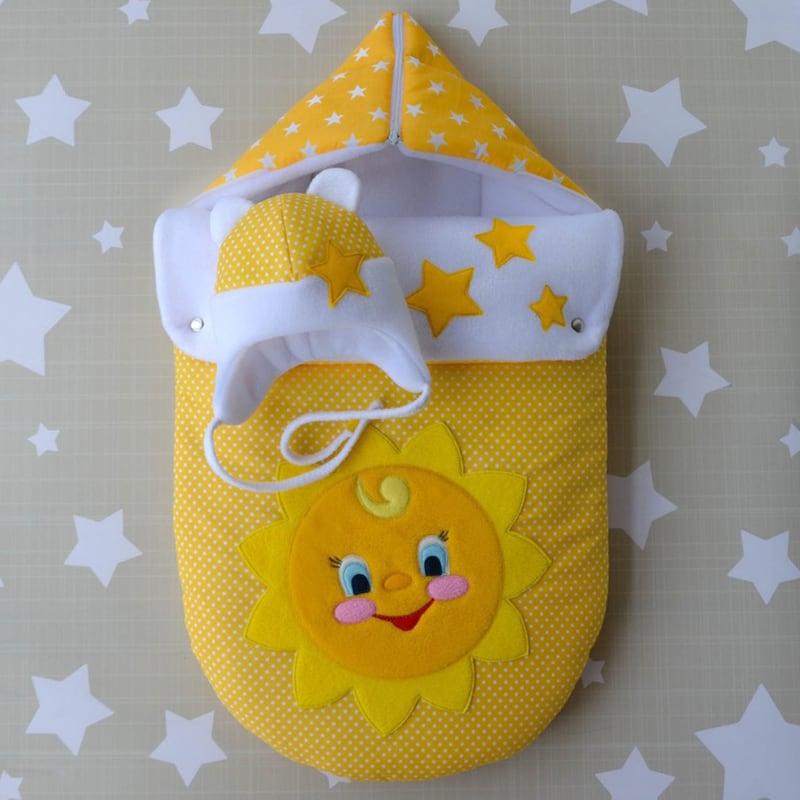 Конверт для новорожденных детей Солнышко
