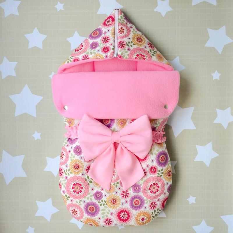 Конверт для новонародженої дівчинки Рожевий Кульбаба