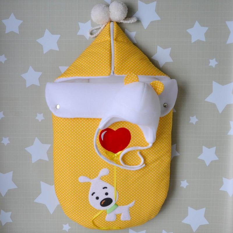Конверт для новорожденных на выписку из роддома Щенок