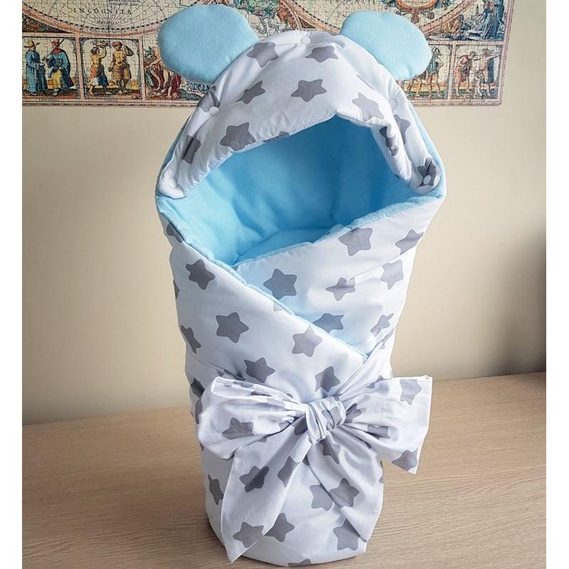Конверт на виписку з пологового будинку хлопчикові Блакитна Мишка