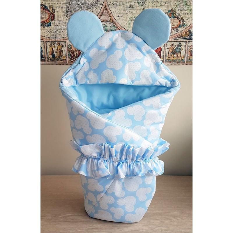 Конверт для мальчика Голубой Микки Маус