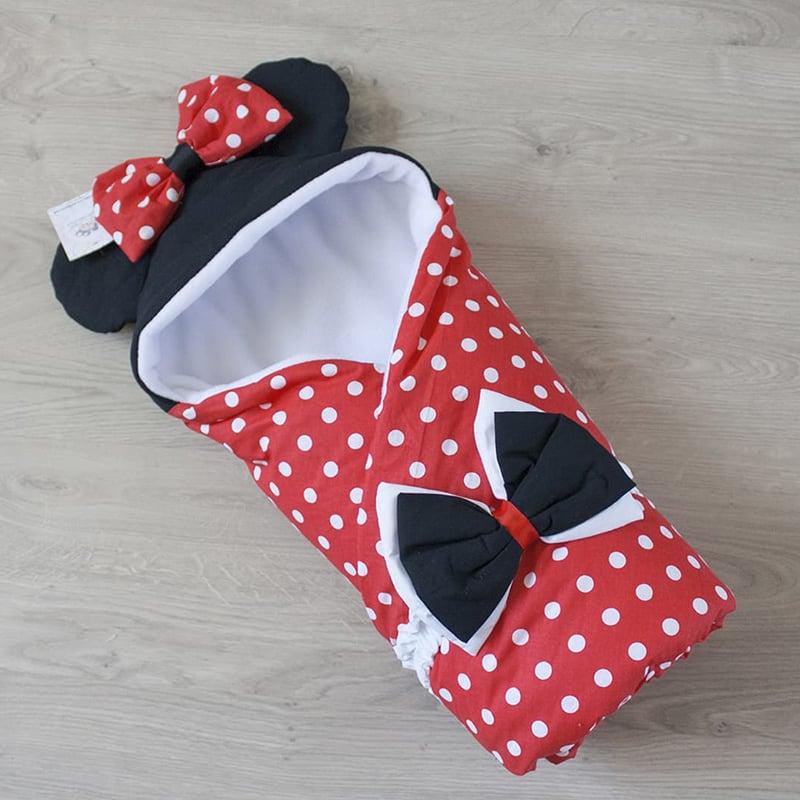 Конверт одеяло для девочки на выписку Мисс Минни