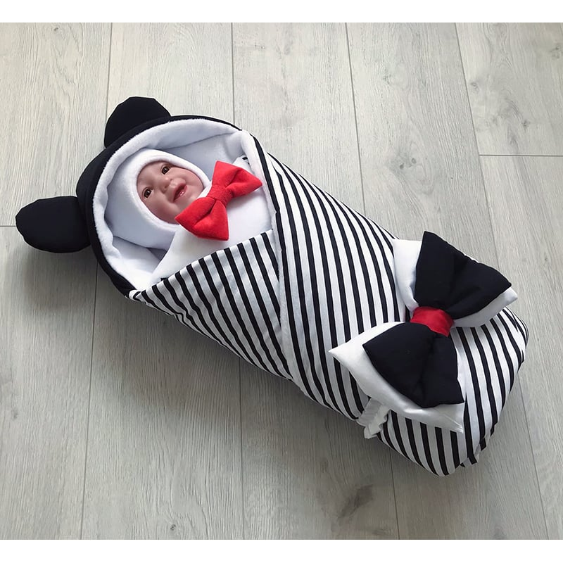 Конверт одеяло для мальчика зимний Мишка с Шевроном