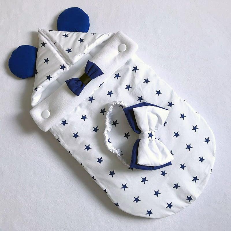 Конверт для хлопчика на виписку Блакитна Зірка