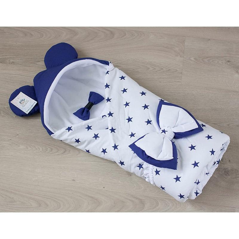Конверт одеяло мальчику на выписку Белый Умка