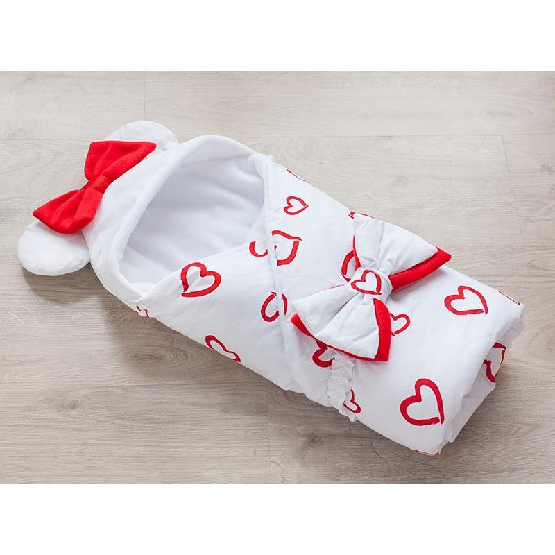 Конверт одеяло девочке на выписку Сердце Мое