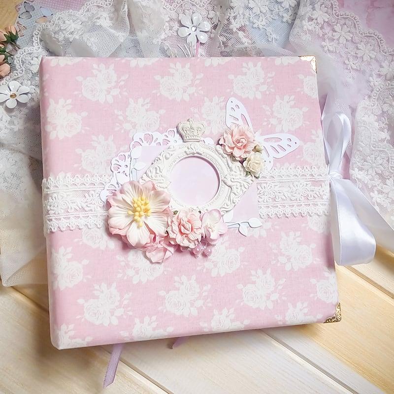 Фотоальбом handmade для девочки Шебби-Шик