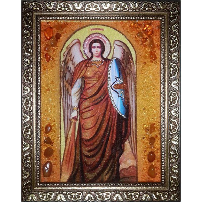 Именная икона из янтаря Св. Архистратиг Михаил
