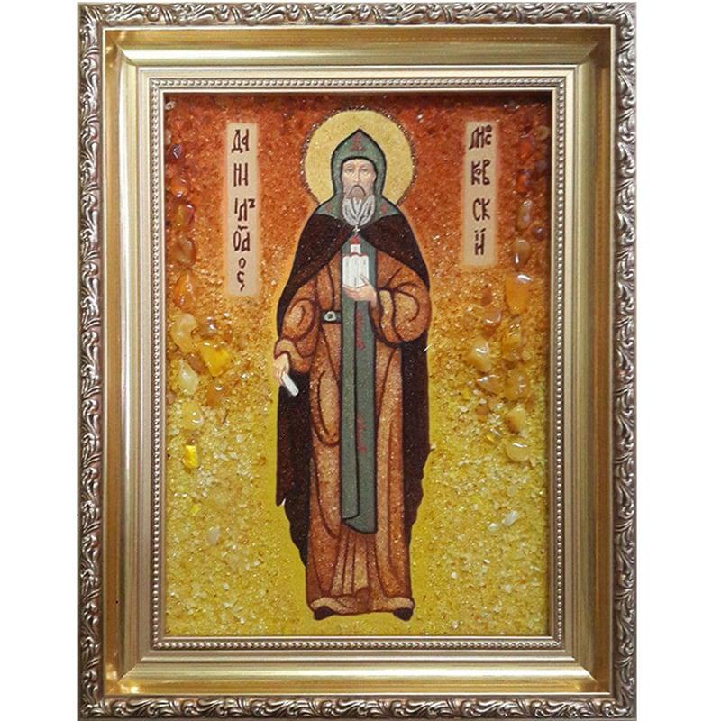 Ікона в бурштині Св. пророк Даниїл