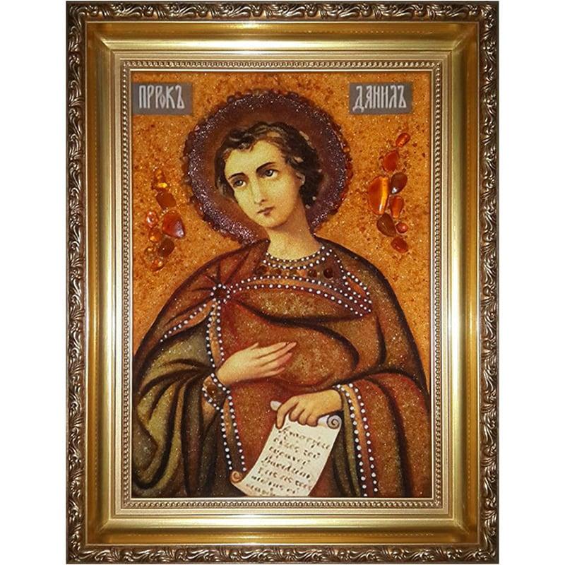 Именная икона из янтаря Пророк Даниил
