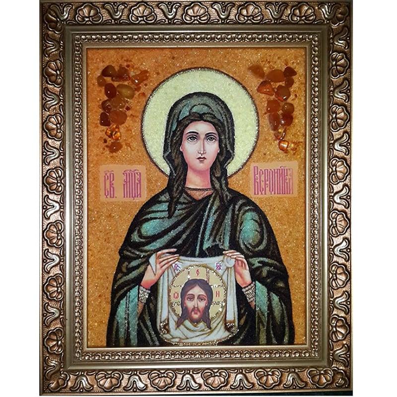 Икона в янтаре именная Святая Вероника