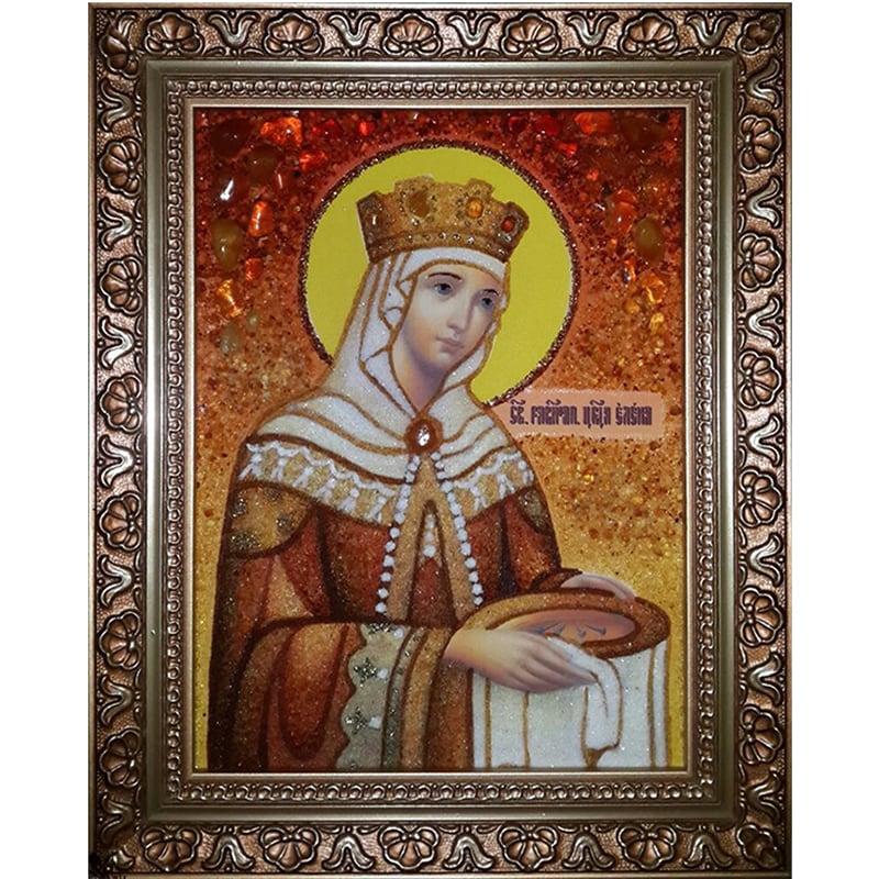 Именная икона из янтаря Св. равноапостольная царица Елена