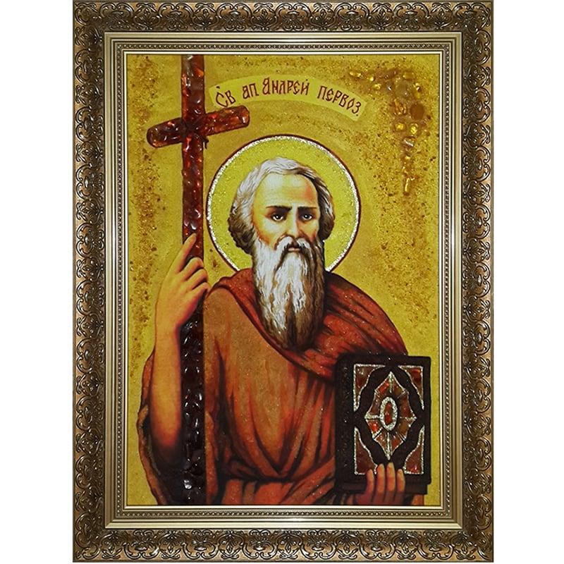 Именная икона из янтаря Св. Андрей