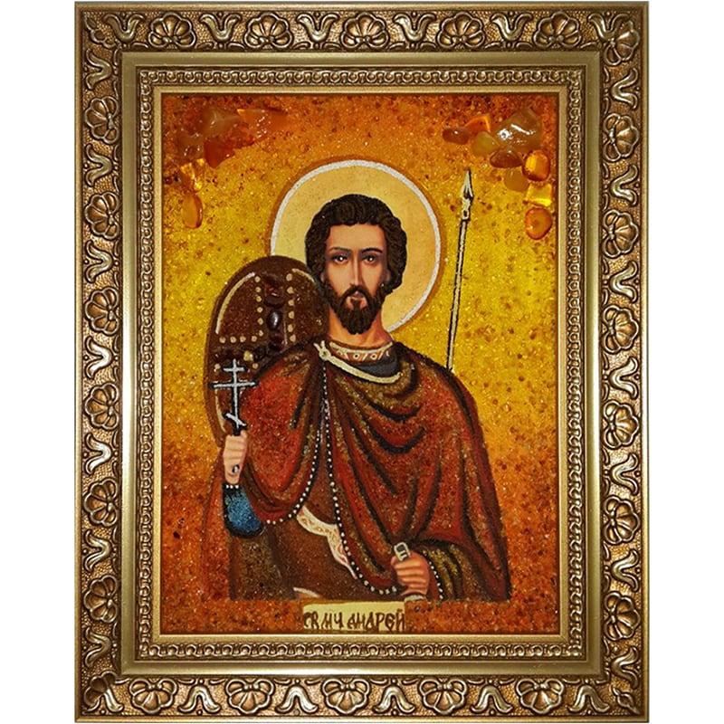 Іменна картина в бурштині Св. Андрій Первозванний