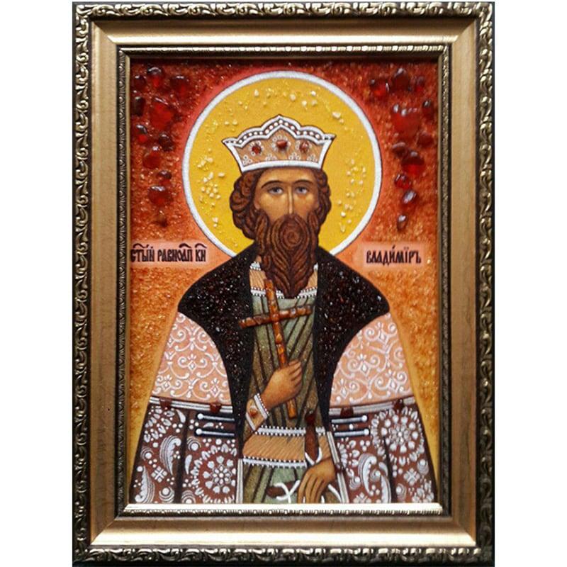 Именная икона в янтаре Св. Владимир
