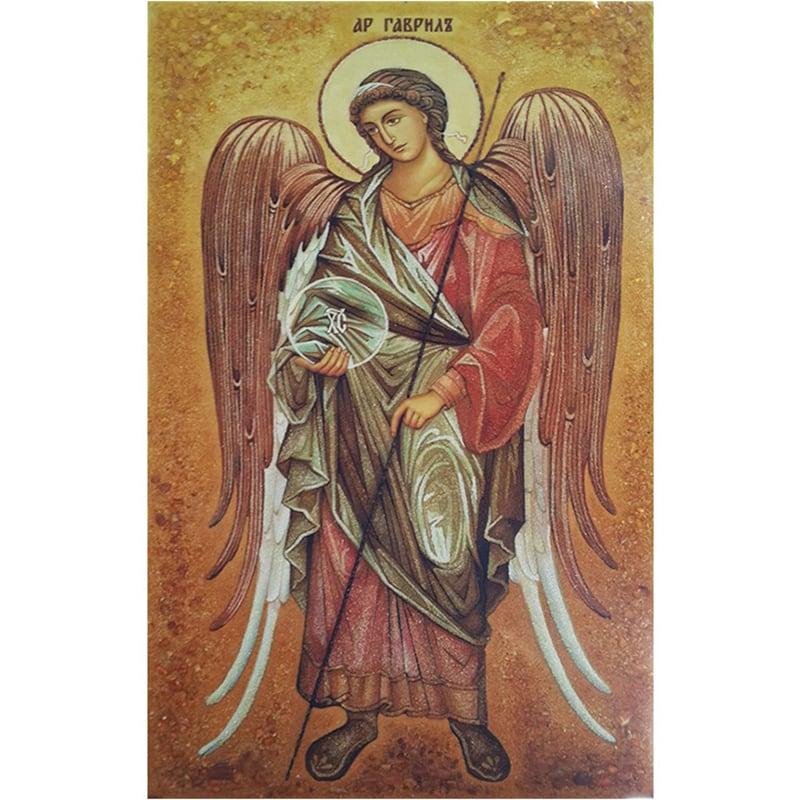Икона авторская из янтаря Архангел Гавриил