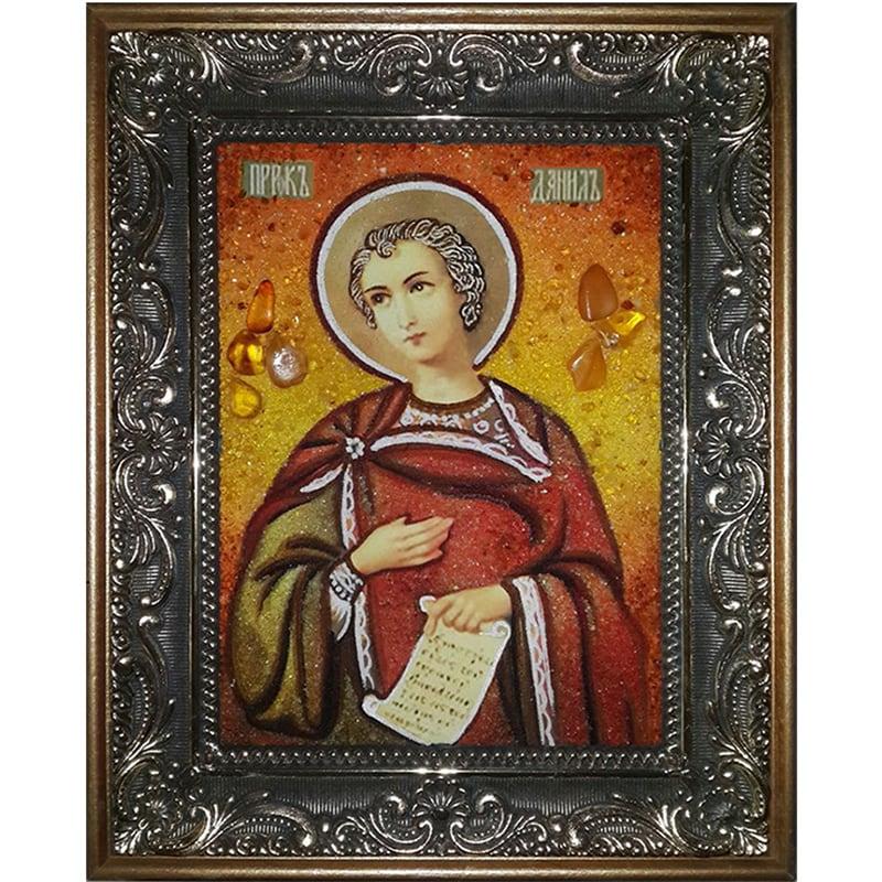 Именная икона из янтаря Св. Даниил