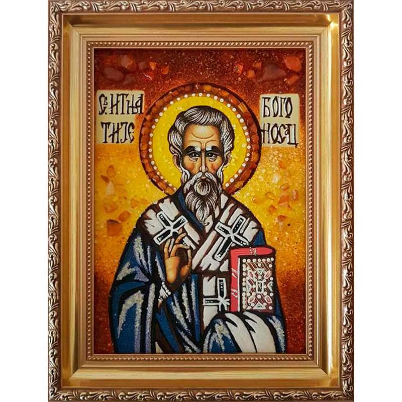 Именная икона в янтаре Св. Игнатий Богоносец