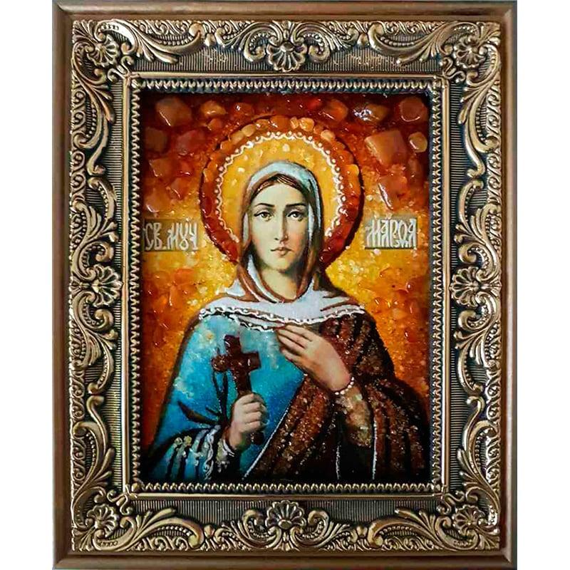 Икона именная в янтаре Св. Праведная Марфа