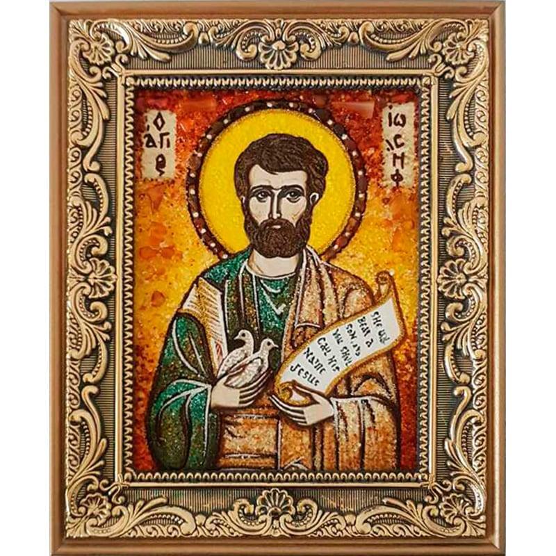 Икона из янтаря именная Иосиф Обручник