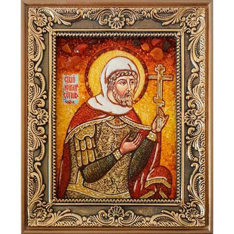Именная икона из янтаря Лонгин Сотник
