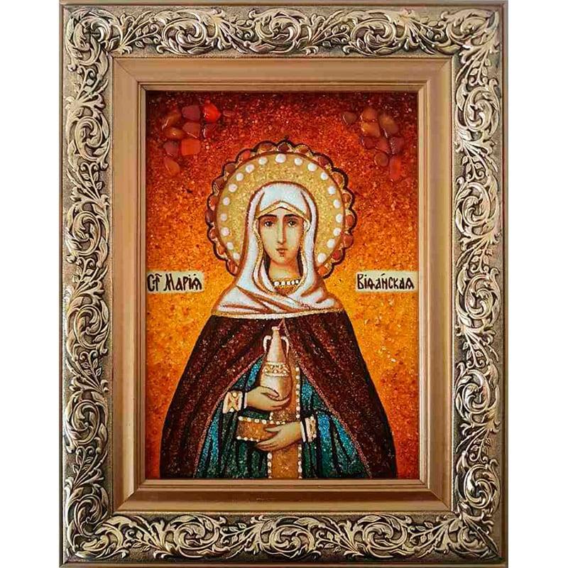 Іменна ікона з янтаря Свята Марія Віфанська