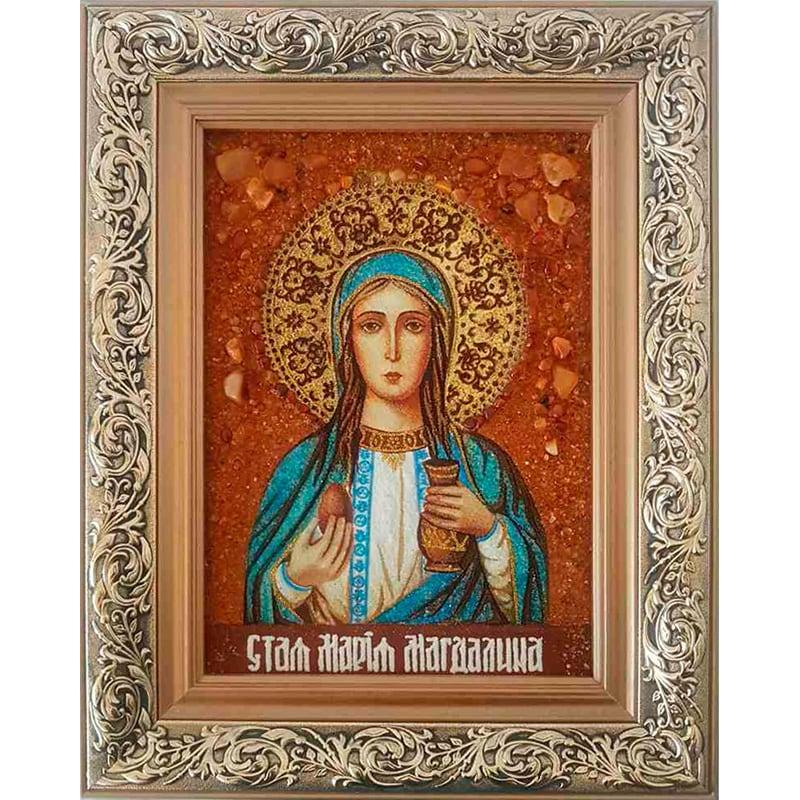 Икона из янтаря именная Св. Мария Магдалина